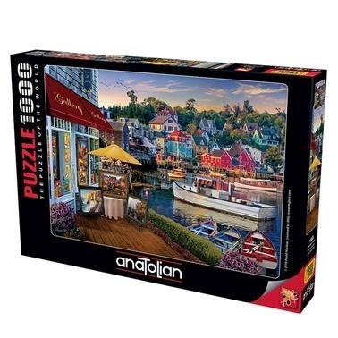 Anatolian  Puzzle 1000 Parça Limandaki Galeri 1069 Renkli